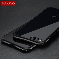 Luxury For Xiaomi Mi6 Case 2 In 1 Slim Metal Frame Acrylic Back Cover For Xiaomi