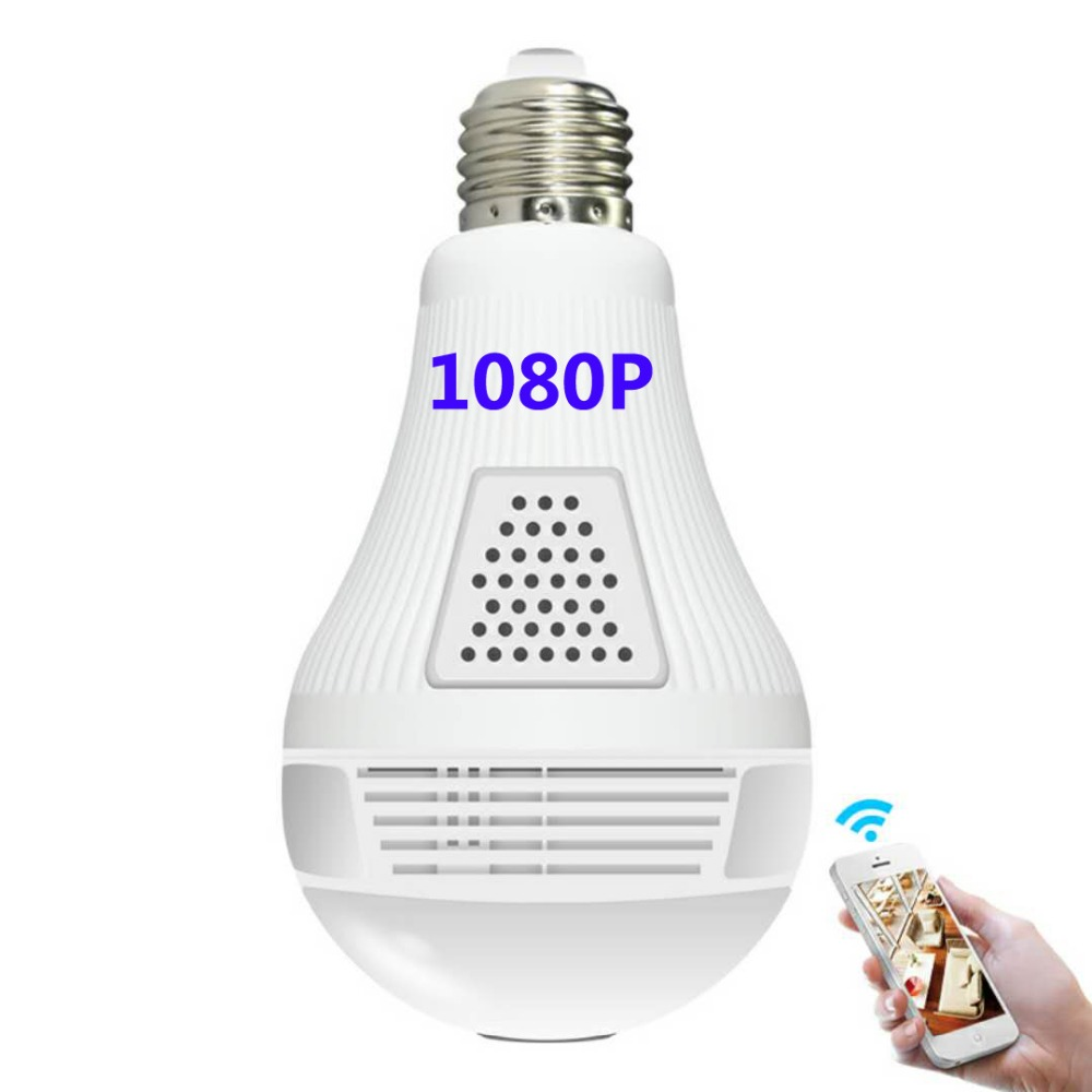 1080P XM Intellingent Surveillance Camera panoramic video monitoring E27 light bulb LED Intellingent wireless control lamp