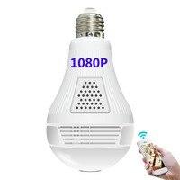 1080P XM Intellingent Surveillance Camera panoramic video monitoring E27 light bulb LED Intellingent wireless control lamp