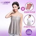 La primavera y el verano las mujeres embarazadas en la lucha contra la radiación ropa de fibra de plata chaleco que llevaba cuatro estaciones