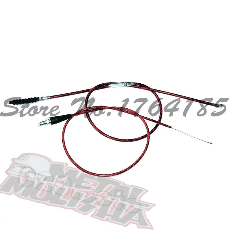 Красный трос дроссельной заслонки и кабель сцепления для китайского мотоцикла Pit Dirt XR50 CRF50 CRF70 KLX110 SSR Thumpstar TTR livan BSE YX YCF