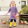 VIDMID Girls Dresses Long Sleeve Brand Princess Dresses Girls Clothes Animal Pattern Children Costumes Kids Cotton