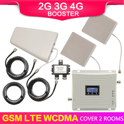 GSM 900mhz DCS 1800mhz 3G WCDMA 2100mhz B10 Cellular Signal Booster 3G UMTS 2100 4G LTE 1800mhz B3 Repeater 2 Aerial Amplifier