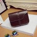 Women Vintage Shoulder Bag Solid Leather String Belt Small Fresh Handbag Girl Fashion Design Messenger Bag Bolsas De Couro #7202