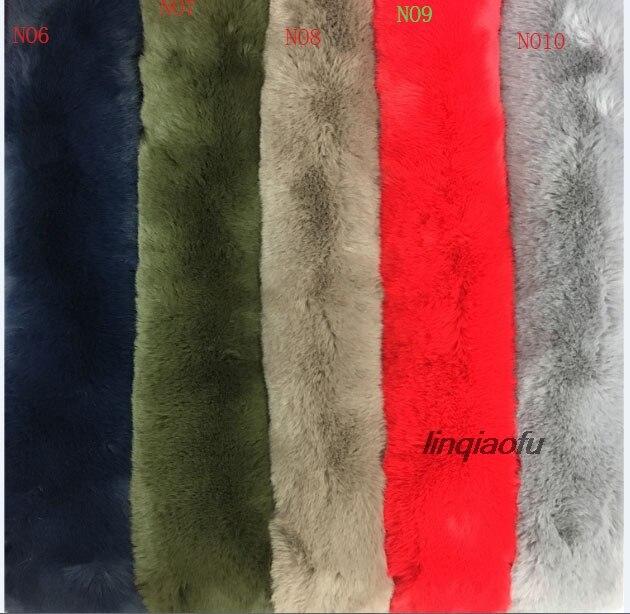 Chaîne tricoté super doux mat lapin cheveux Extra épais lapin fourrure collier de fourrure bavoir fausse fourrure en peluche, 160*90 cm (une cour) un pcs/pour