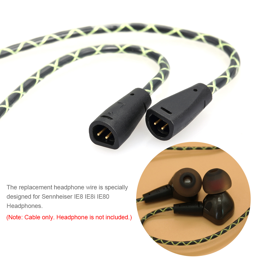 small resolution of 3 5mm wired earphones cable replacement headphone cord in line control w microphone for sennheiser ie8 ie8i ie80 headphones in earphone accessories from
