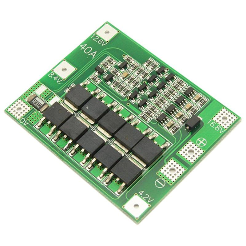 4S 40A 12.6V 18650 Lithium Battery Charger Protection Board PCB BMS Module With Balance For Drill Motor Hot Sale