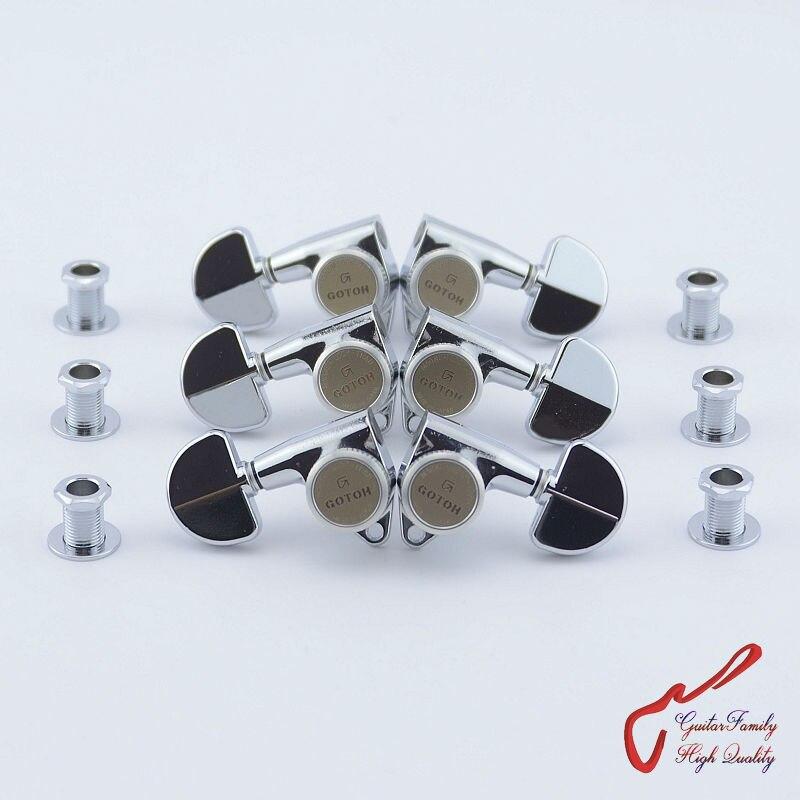 Véritable Original L3 + R3 GOTOH SG301-20-MGT têtes de Machine de verrouillage de guitare accordeurs (Chrome) fabriqués au japon