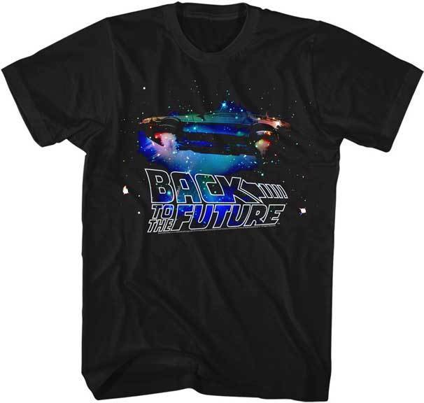 Back To The Future Galaxy DeLorean Adult T Shirt