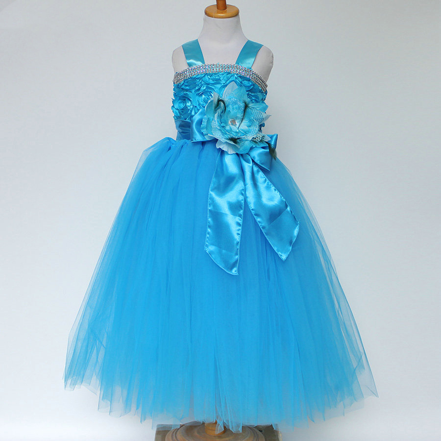 Children Evening Wedding Gowns Kids 2 3 4 5 6 7 Year Old Birthday Outfit Flower Girl Dresses Green Red Blue Party Dress In From Mother
