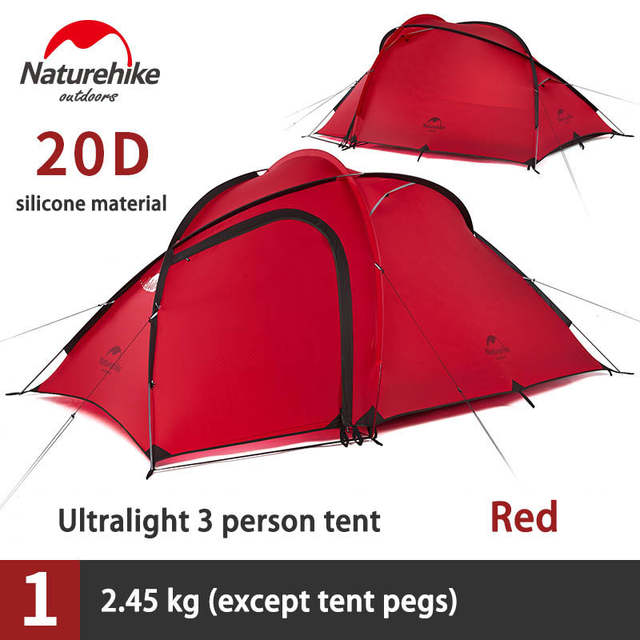 Sensational Naturehike 2 3 Person Camping Waterproof Tent 1 Bedroom 1 Living Room Tent Outdoor Double Layer Tent Sleeping Units Nh17K230 N Download Free Architecture Designs Rallybritishbridgeorg