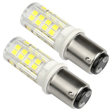 BA15D LED Bulb 220V 4W Equivalent 40W Halogen Lamp Daylight White 6000K LED Lamp Double Bayonet