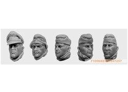 1:35 segunda guerra mundial tropas britânicas cabeça (5 figuras) 08