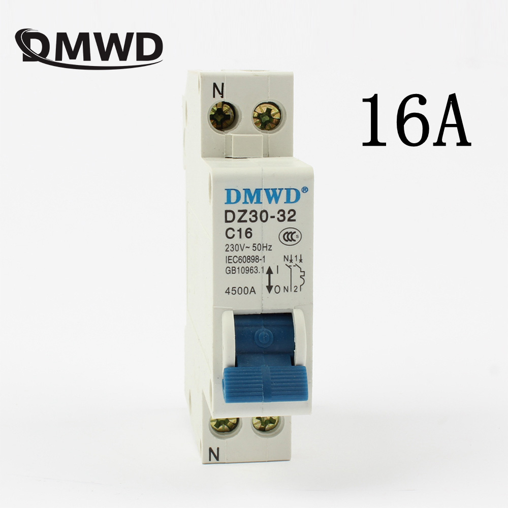 Mini Circuit breaker DPN mini DZ30-32 1P+N 16A 220V 230V 50HZ 60HZ Circuit Breaker DIN RAIL RCBO GOOD QUALITY RCCB idpna vigi dpnl rcbo 6a 32a 25a 20a 16a 10a 18mm 230v 30ma residual current circuit breaker leakage protection mcb a9d91620