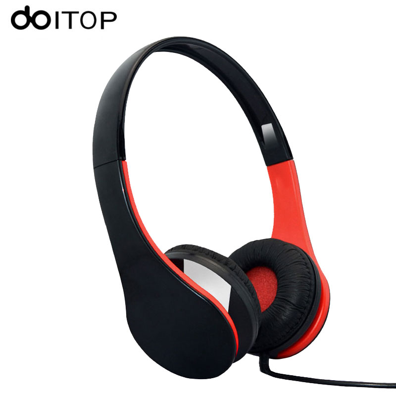 DOITOP 3.5mm Wired Stereo Headphones Headset Portable Sports Hifi Music Earphones Stretchable Headphone for MP3 Smartphone PC A3 itsyh music headphone with microphone game headphones 1 5mm tpe wired bass headset stereo earphones foldable portable tw 811