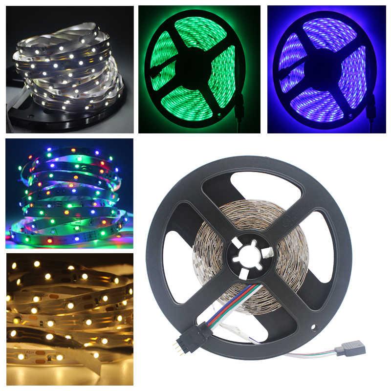 RGB 300 taśma LED light 5 m 60 diody LED/m SMD2835 biały ciepły biały czerwony zielony niebieski taśmy LED 12 V wodoodporna elastyczna taśma z paskiem