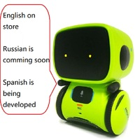 Intelligent Robot Toy English or Russian Language Dance Sing Repeating Recorder Touch Control Voice Control Gift for Kids Age3+