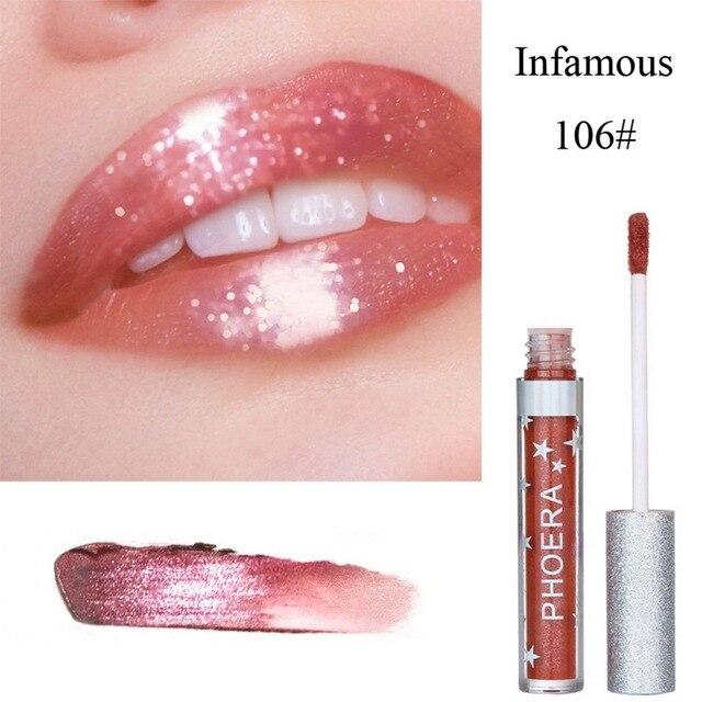PHOERA nuevo impermeable mate lápiz labial líquido crema hidratante de labios suave palo de larga duración brillo de labios belleza cosmética marca de maquillaje