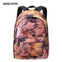 Женские полиэстер рюкзак кленовый лист печати школьников сумки для девочек-подростков туристические рюкзаки рюкзак Mochila