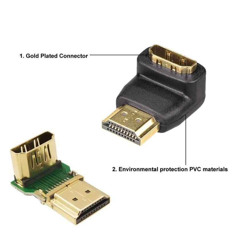 2 Pairs محول HDMI محول 90 درجة 270 درجة HDMI ذكر إلى شاحن أنثي محول موصل ل 1080P HDTV