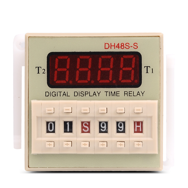 цена на DH48S-S Repeat ON & OFF Cycle Timer Delay SPDT Control Digital Time Relay 8Pins with Socket Base DH48S AC 220V 110V DC 24V 12V