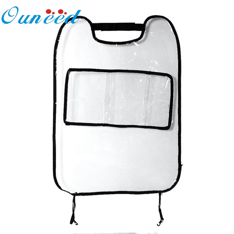 1PC Car Auto Seat Back Protector Cover For Children Kick Pad Mat Storage Bag
