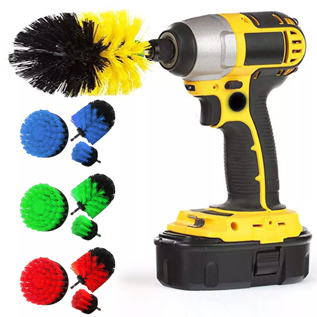 Electric Drill Brush Kit 3pcs/set Tile Grout Scrubber Cleaning Drill Nylon Brushes Tub Cleaner Kit Wood Grinding Polishing Tool недорого