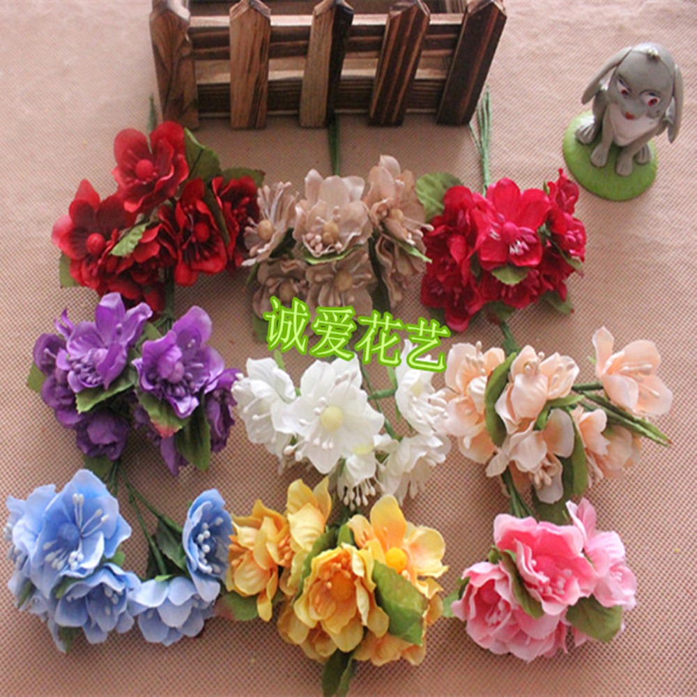 72 pcs simulation flower simulation plum cherry blossoms peach silk 72 pcs simulation flower simulation plum cherry blossoms peach silk flowers fake flower garlands i tire in artificial dried flowers from home garden on mightylinksfo