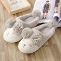2016 Winter new cartoon slippers slippers women comfortable home indoor cotton slippers