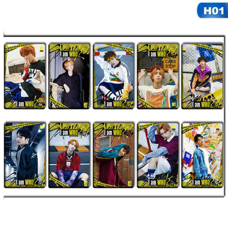 10pcs/set K-POP STRAY KIDS Sticky Photo Cards New Fashion Frosted Bus Card  Stickers Gift For Fans Collection