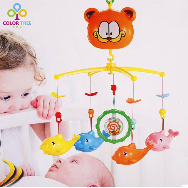 Novos Brinquedos Chocalho Recém-nascidos Criança Girando Musical Cama Sino Cama Brinquedo Presentes Dos Desenhos Animados Para Crianças de Alta Qualidade