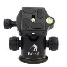 BEIKE алюминиевый BK-03 штатив с шаровой головкой+ БЫСТРОРАЗЪЕМНАЯ пластина Профессиональный штатив для камеры Максимальная нагрузка до 8 кг