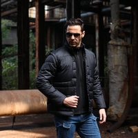 2018 New winter Men Military Tactical Thermal down jacket Outdoor Hiking fishing airsoft Windproof Removable Sleeves down coat