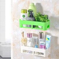 Prateleira Do Banheiro de Plástico inovador Novo Multifunções Soco Livre-Casa Rack De Armazenamento Toalha de Banho Shampoo Proteção Ambiental
