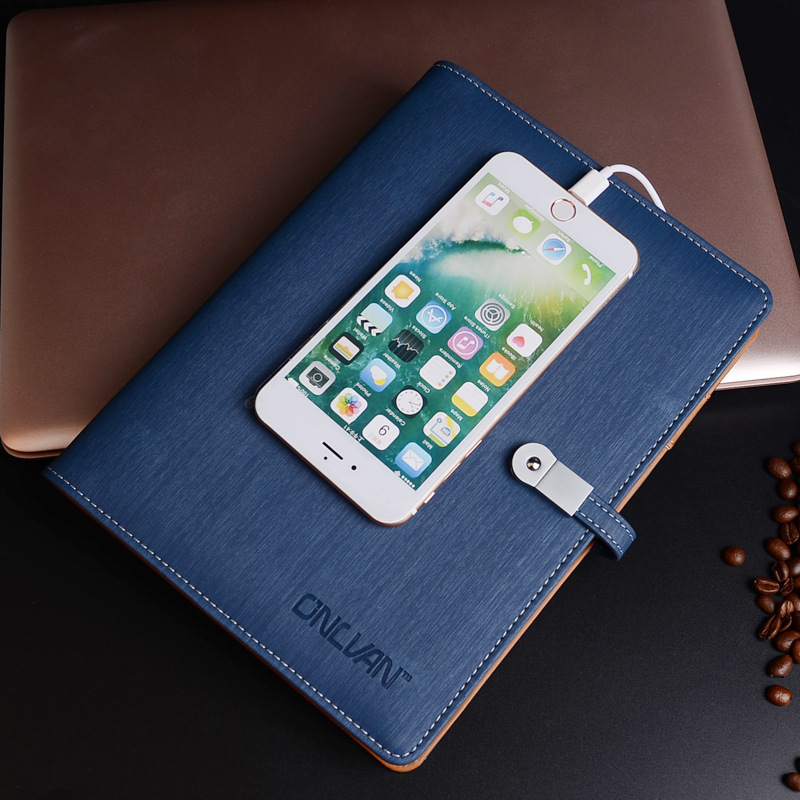 Business Notebook In Pelle A5 Binder Spiral Diary Journal & USB Flash Drives & Banca di Potere Planner Agenda Multi-funzione Note Book