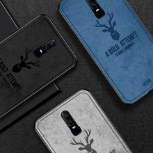 Christmas Deer Cases For Oneplus 6 Cover 6T t Case Cloth Back Soft Silicone shockproof 1+6 Oneplus6 Phone