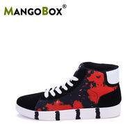 Different Colors Men Skateboard Shoes Designer Mens Pu Leather Sneakers Wearable Skateboard Sneakers High Top Skateboarding Shoe