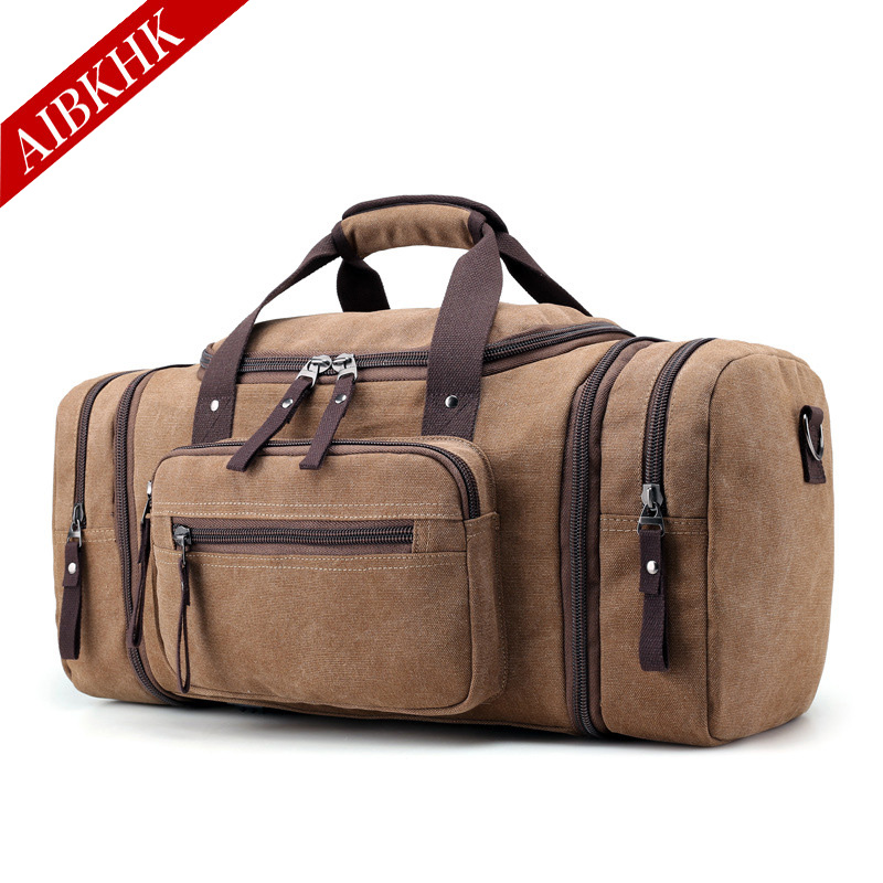 New Arrival Canvas Travel Bags for Men Large Capacity Portable Male Shoulder Bags Mens Handbags Vintage Travel Package