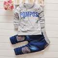 2016 Boys clothing set kids casual sports suit children tracksuit boysletter printed long shirt + jeans pants gogging sweatshirt