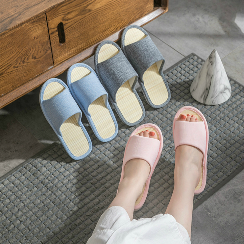 2019 New Bamboo Household Sandals And Slippers Summer Bamboo Weed Grass Room Soft Bottom Home Couple Indoor Linen Slippers