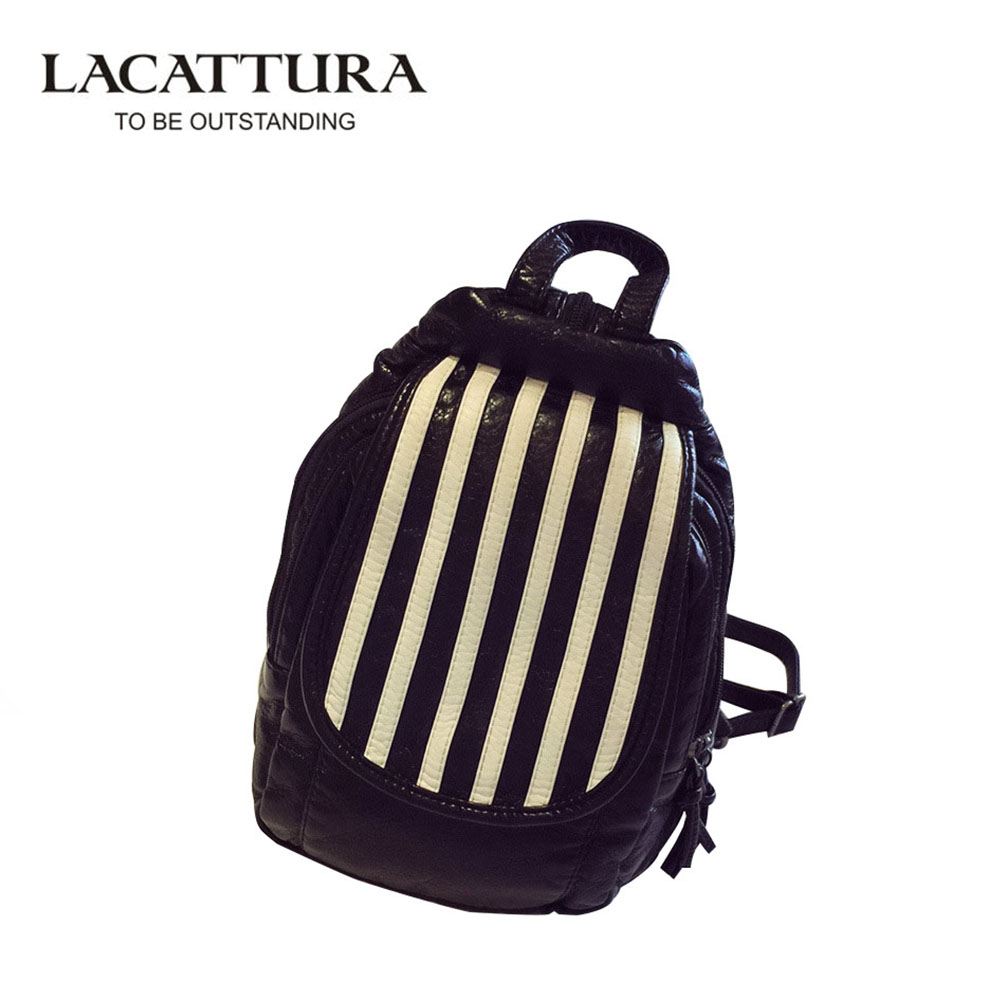 LACATTURA Women s Backpack Fashion Cow Split Leather Girl Backpack School Casual All Match College Wind