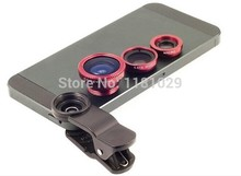Hot Sale 3 in 1 lens Wide Lens+Macro Lens+180 Fish Eye Lens For iPhone 4  4S 5 5S 5C for all mobile phones lens Best Selling