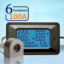 6 IN 1 Digital Voltage Meter Indicator LCD Power Energy Voltmeter Ammeter Current Amps Volt meter Watt Tester Detector(China)