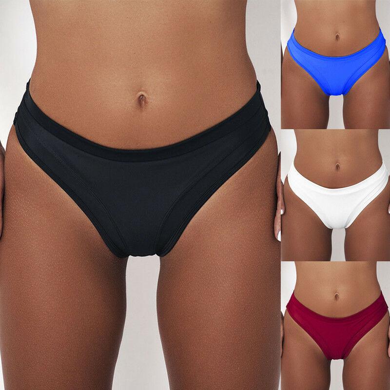Women Bikini High Waist Short Tankini Bottoms Swimsuit Swimming Costume Briefs Pants Bathing Females Bikini Buttom 2019