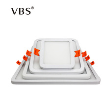 Led Panel Light 6W 12W 18W 24W Dimmable Slim Frame Led Panel Downlight Ultra Thin Square/Round Led Ceiling Lamp AC85-265V