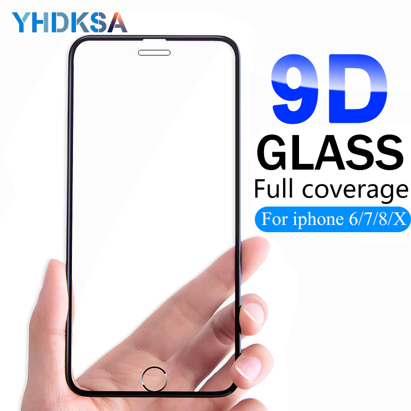 9D Tempered Glass on the For iPhone 8 7 6 6S Plus Screen Protector Aluminum Alloy For iPhone X XR XS Max 5 5S SE Protective Film9D Tempered Glass on the For iPhone 8 7 6 6S Plus Screen Protector Aluminum Alloy For iPhone X XR XS Max 5 5S SE Protective Film