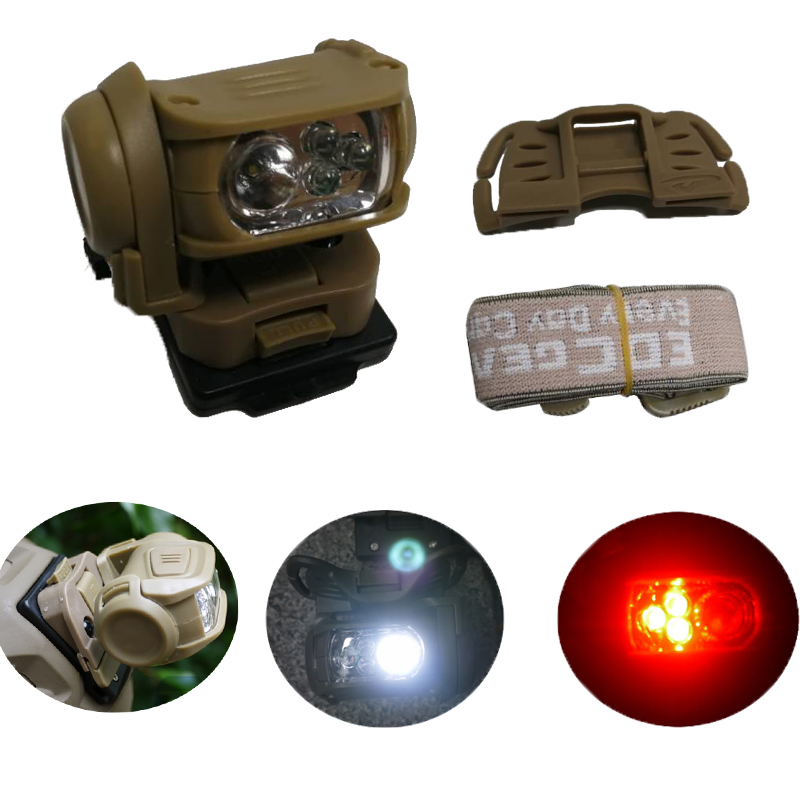 Military Headlight Headlamp LED Red Head Light Lamp Tactical Head Torch Flashlight for Hunting Running Fishing Hiking cree xml l2 led zoomable headlamp red green blue fishing 4 mode head lamp light torch hunting headlight 18650 battey usb charger