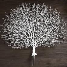 Искусственные коралловые ветки, искусственные ветви деревьев, сушеные растения, белое растение, украшение для дома, свадьбы, LBShipping