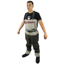 Fly Fishing Wader Stocking Foot Chest Waders Breathable Waterproof Fishing Wader Overalls Boots