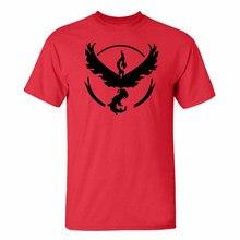 4e88f74d 2018 Men Pokemon Go T-shirt Team Valor Mystic Instinct Shirts Short Sleeved  Cool Streetwear
